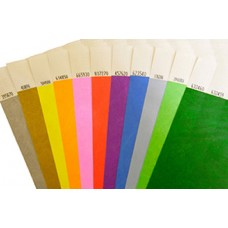 Tyvek Wristbands 19mm Plain (Supplied in sheets of 10)