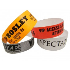 Tyvek Wristbands 19mm Black Print (Supplied in sheets of 10)